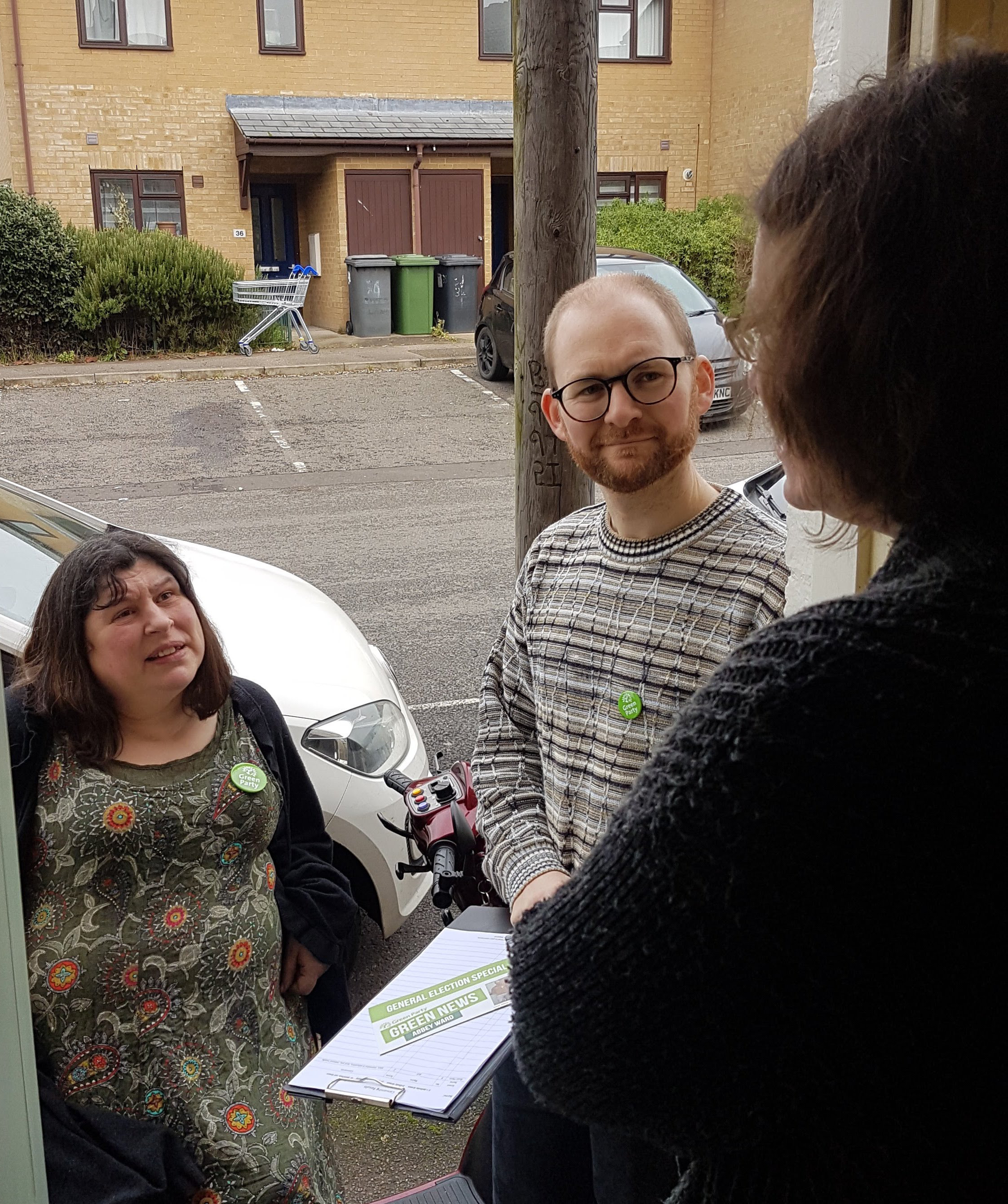 Naomi and Matt canvassing