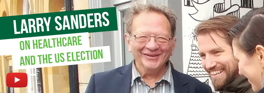 Larry Sanders on healthcare and US election